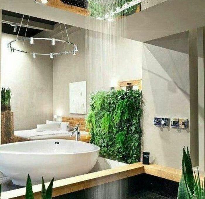 Водопад в ванной комнате