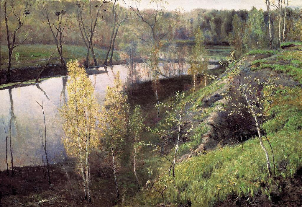 0782.Ostrouhov.Il'ia.Pervaia.zelen'.1888.holst.maslo.71h105.sm.jpg
