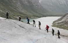 Восхождение на ледник Нигардсбреен