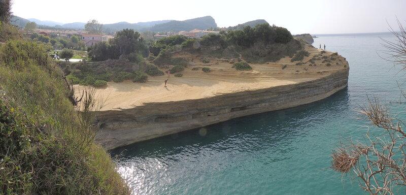 Сидари (Sidari) -  пляж Canal D'Amour восточный