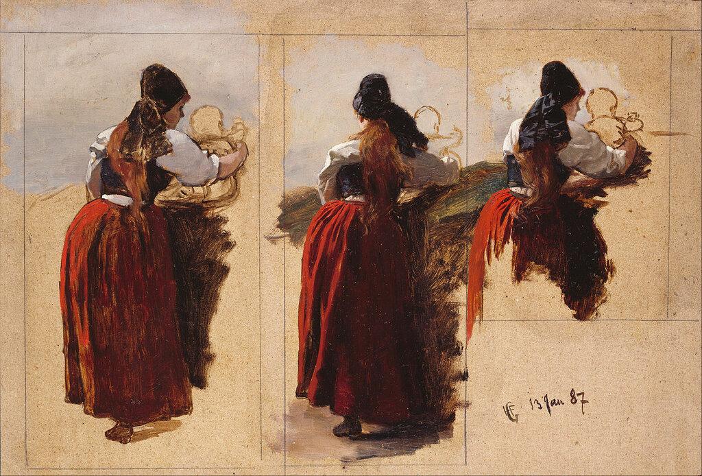 Hans Gude - Studies of a Woman from Rügen.jpg