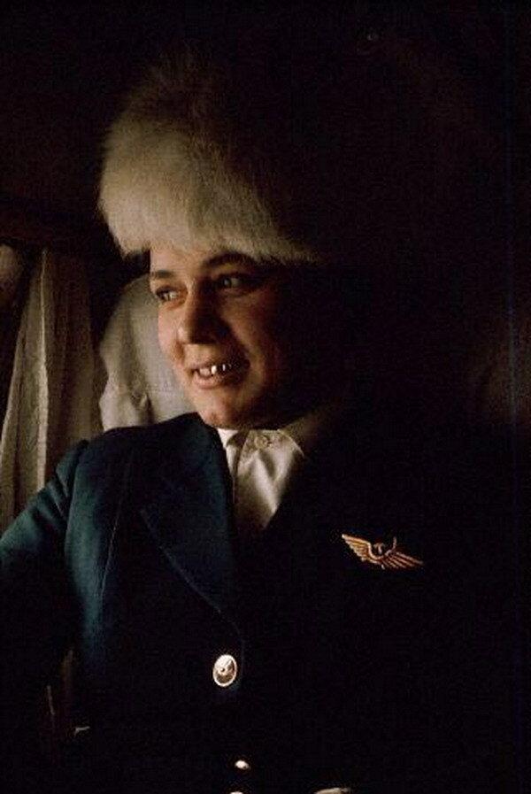 Стюардесса Тамара на Ил-14, рейс Иркутск – Якутск, 1966