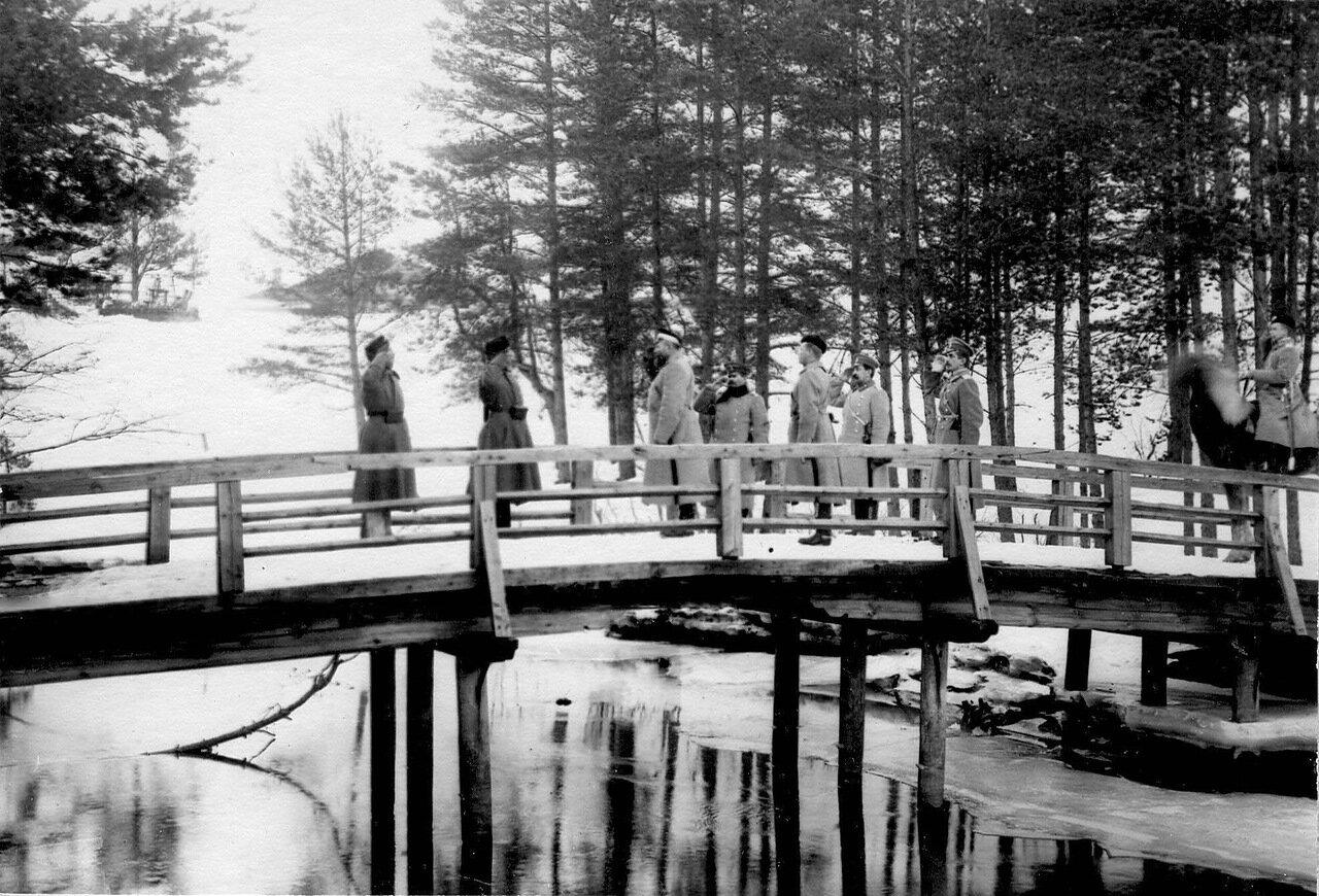 22. Пограничный пост на мосту. 1908