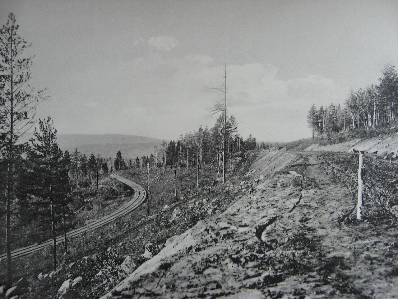 62. 2575 верста. Марский косогор; старое и новое полотно. Строительный период 1909