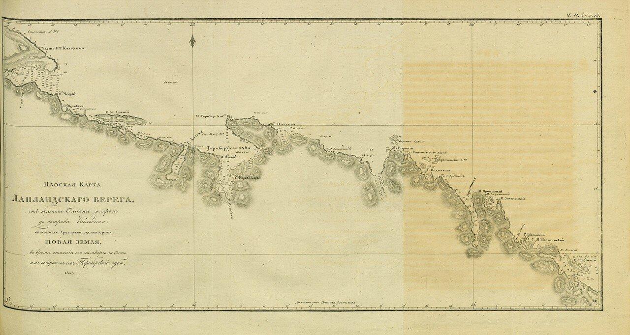 Плоская карта Лапландского берега