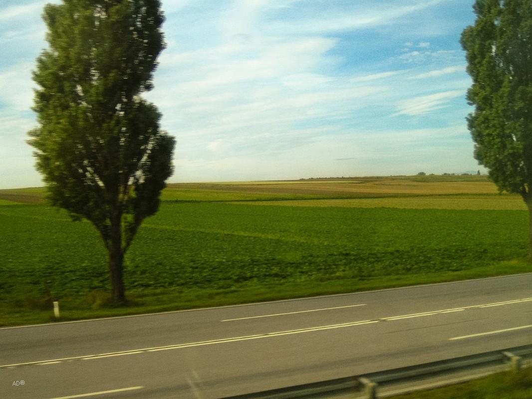 из окна венского аэроэкспресса