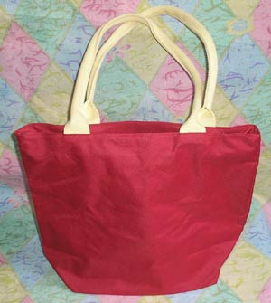 Bag with a list acryle