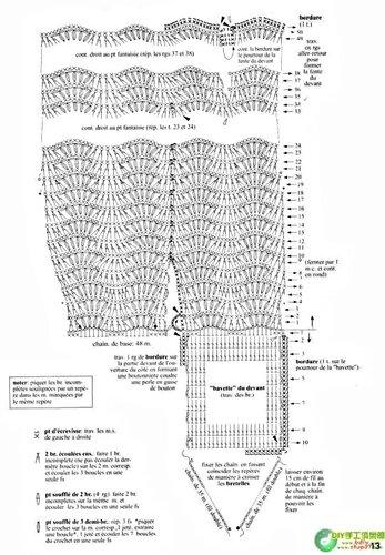 Схема вязания крючком белого платья и сумочки для Барби часть 2.