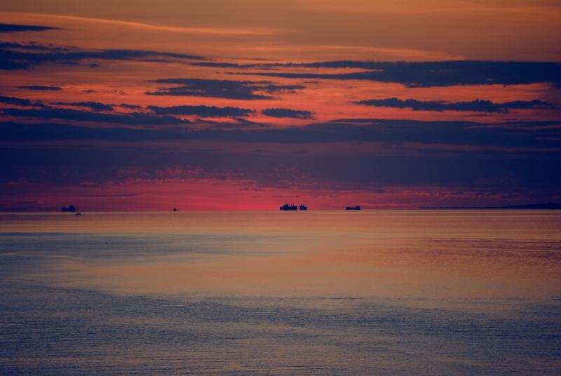 фото заката в Финском заливе