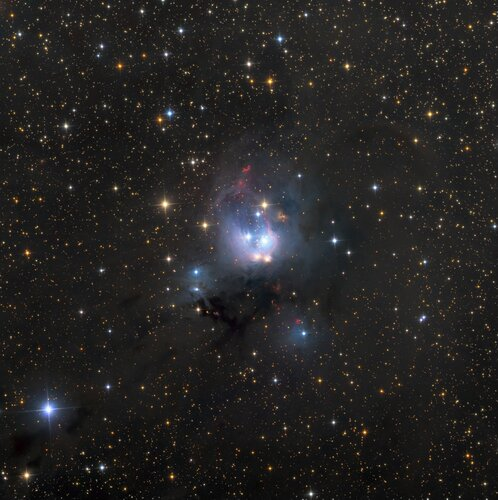 Молодые Солнца NGC 7129