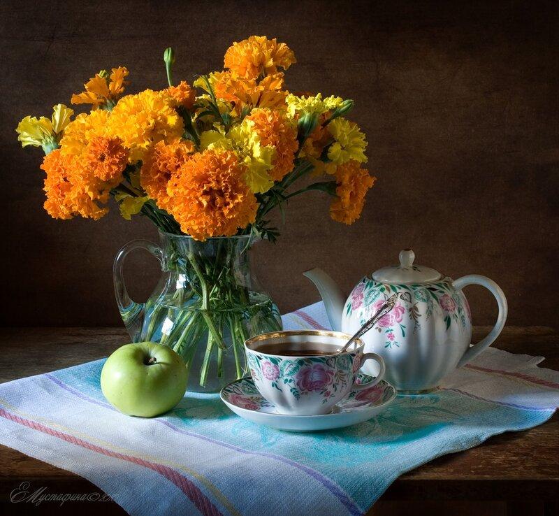 Картинки чай цветы осень боится