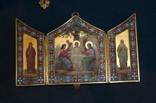 """Складень """"Св.Троица, св.Анна и св.Елизавета"""""""