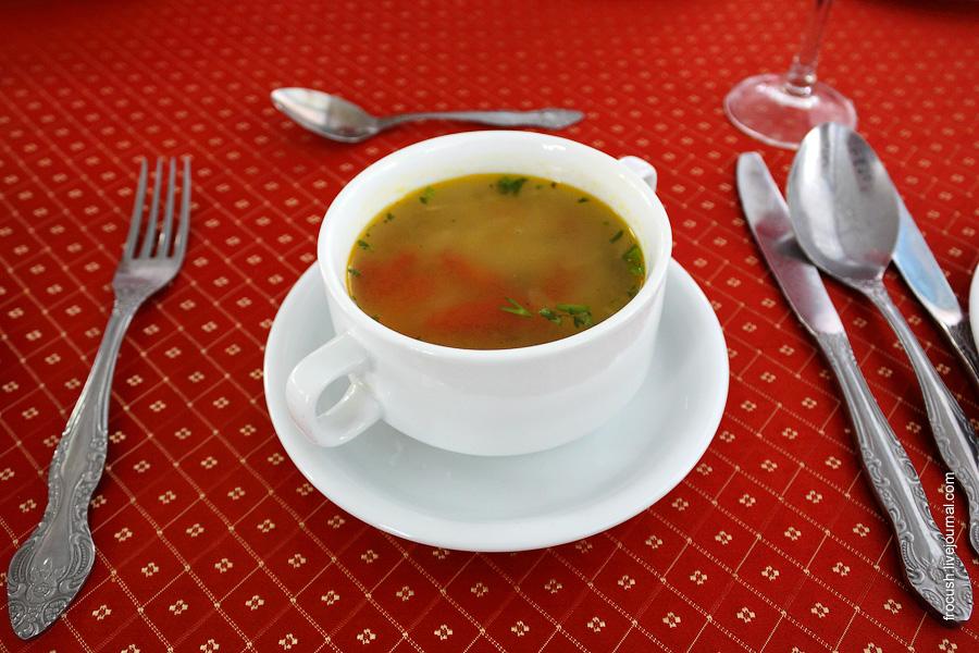 Суп-лапша с помидорами по-казачьи (с курицей)