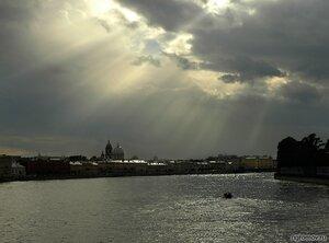 Свет в Петербурге (набережная, нева, Петербург, судно)