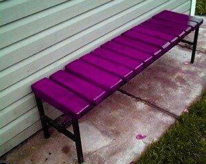 металлическая скамейка своими руками