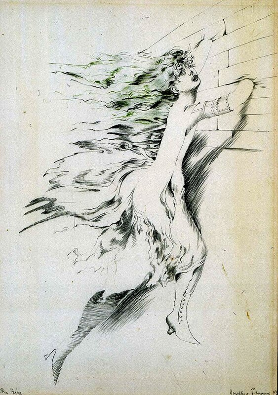 Dorothea Tanning On Fire, 1949
