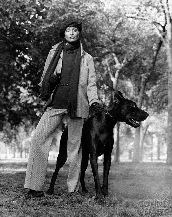 Doberman & Beverly Johnson
