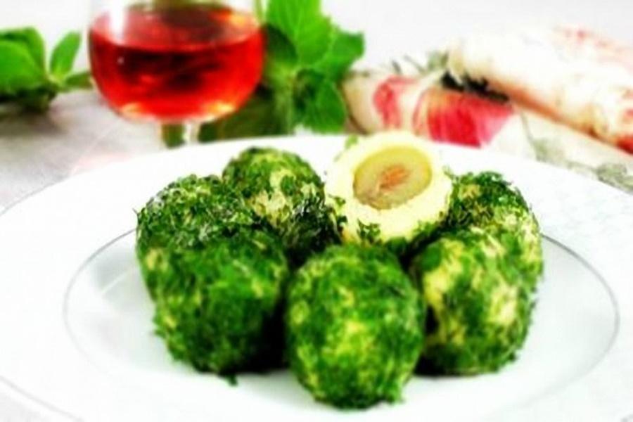 «Изумрудные шарики из сыра» Вкусная оригинальная закуска