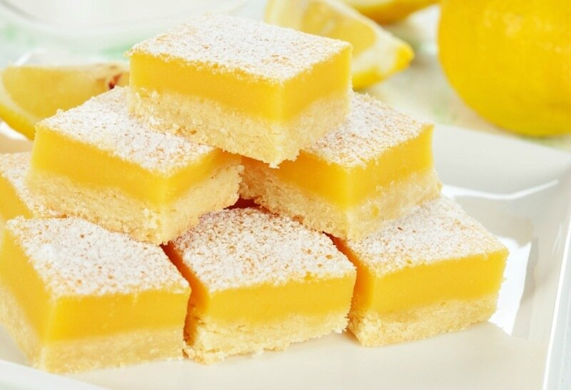 Лимонные кусочки   вкусная выпечка к чаю