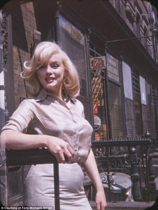 Снимки сделаны 8 июля 1960 года в Нью-Йорке, актрисе в это время было 34 года. Монро вышла из павиль