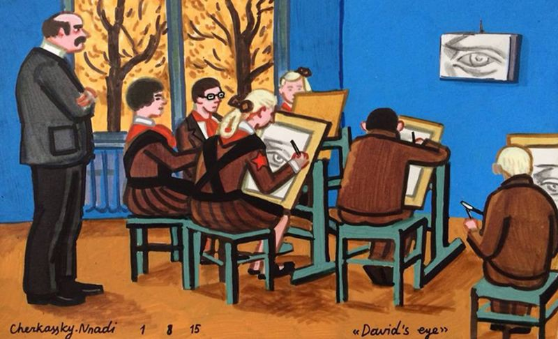 Душевные работы израильской художницы о детстве в СССР