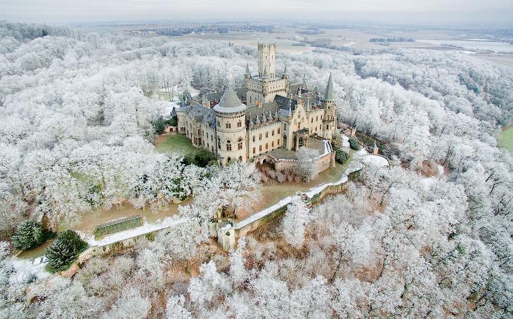 Зима в Европе глазами дронов (19 фото)