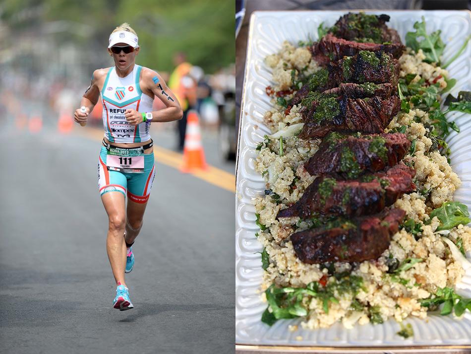 Серьезные физические нагрузки для триатлонистки Миранды Карфре дело обычное: за день она проплывает