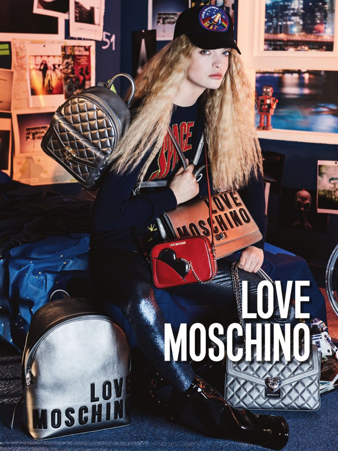 Элла Уэнстром и Виктор Найландер в рекламной кампании Love Moschino