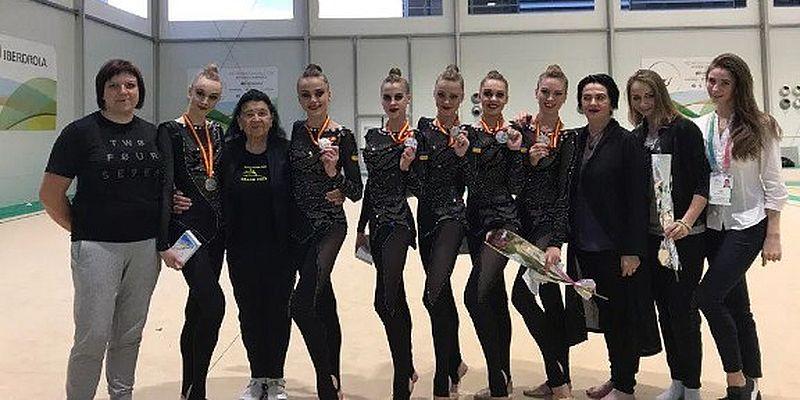 Украинские гимнастки выиграли серебро наWorld Challenge Cup вИспании