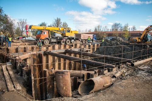 Строительство эстакады в Нахабино