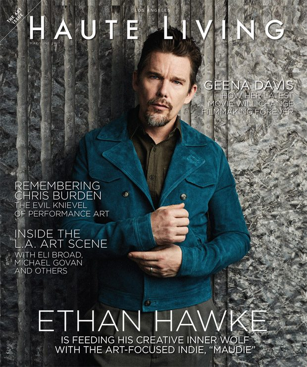 American actor Ethan Hawke takes the cover story of Haute Living Magazine 's May June 2017 edi