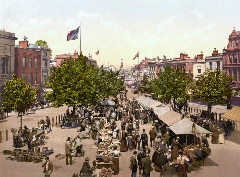 The promenade, Market Day, Taunton, England, ca. 1890-1900.jpg