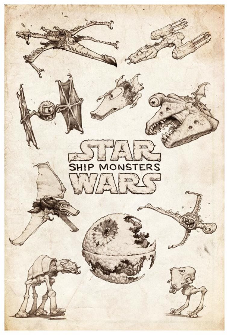 If the famous spaceships from Star Wars were monsters