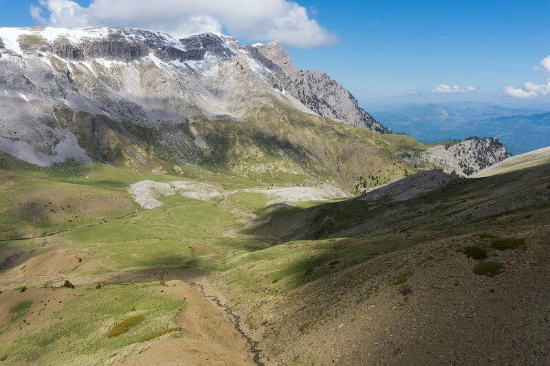 пейзаж на горе Тимфи, Пинд, Греция