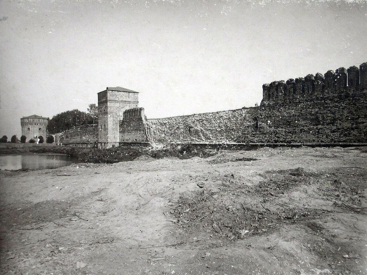 Крепостная стена у Губернаторского пролома. 1901