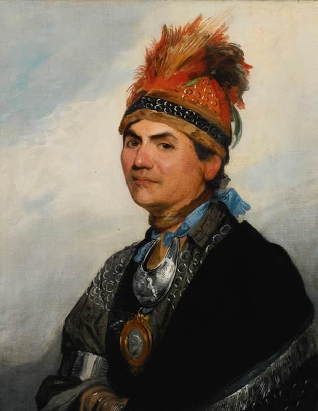Portrait of the Mohawk Chieftain Thayendanegea, Known as Joseph Brant Гилберт стюарт.jpg