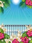 Landscape Tropical Paradise vert [преобразованный]