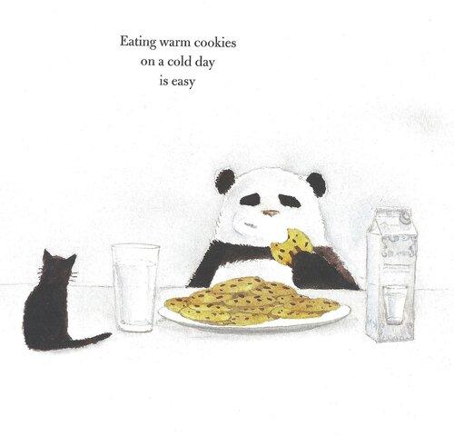 Панда с печеньками