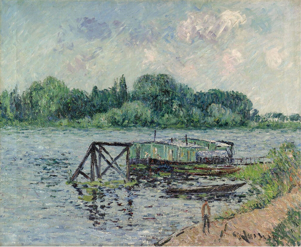 Gustave Loiseau - The Laun Place on the Seine at Herblay, 1906.jpeg