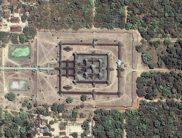 Вид сверху, Ангкор-Ват