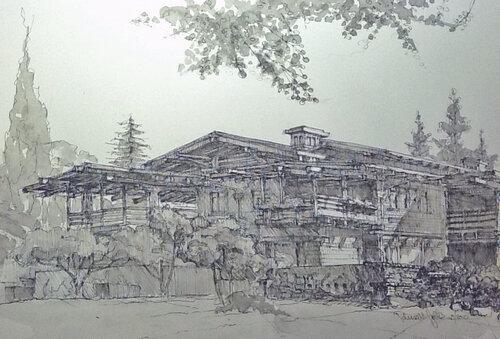 Дом Гембл, общий вид