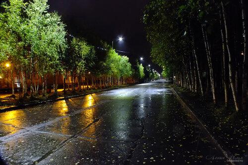 Фото города Инта №7219  Улица Горького в сторону площади Комсомольской в районе домов 10 и 19 10.09.2014_20:22