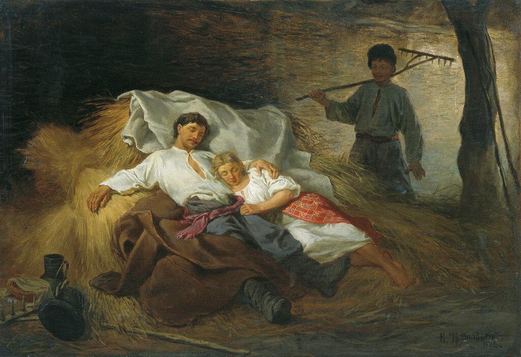 1002.Trutovskiiy.Konstantin.Na.senovale.1872.holst.maslo.jpg