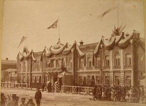 Вид фасада дома Симонова, где находилась квартира великого князя Михаила Николаевича.
