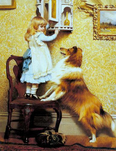 Английский живописец Charles Burton Barber (1845-1894)