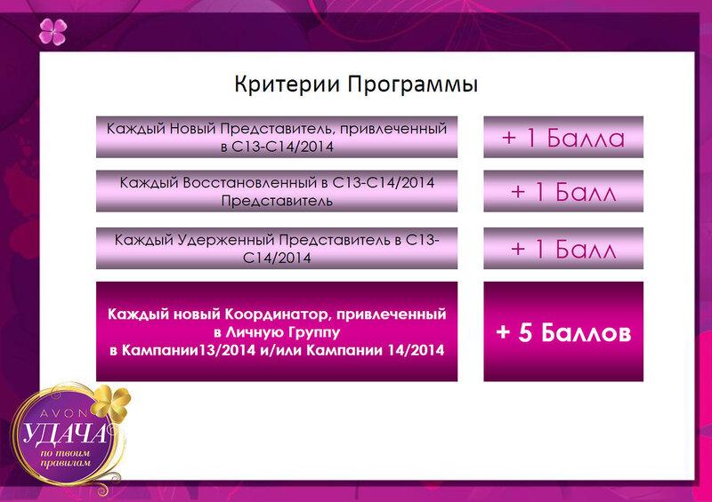 критерии программы