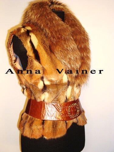 купить меховой жилет из меха лисы в оренбурге недорого.