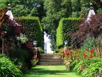 The Famous Red Border at Hidcote in the Cotswolds