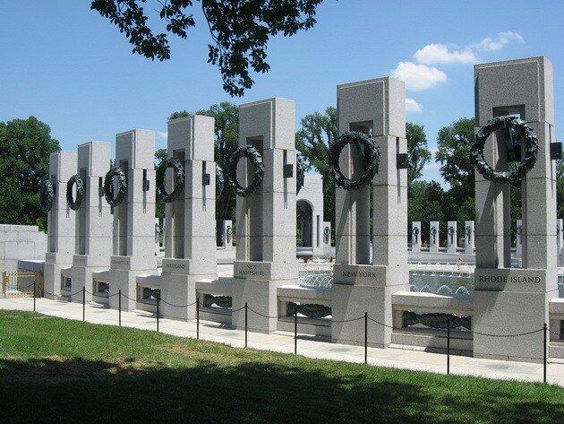 Мемориал героям Второй Мировой войны. Национальная аллея. Вашингтон