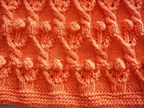 0 45777 b9bb06da L Оранжевый жакет, вязаный спицами